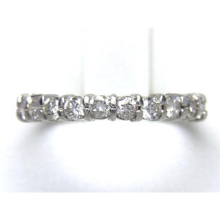 プラチナ 0.50ct ハーフエタニティ ダイヤモンド リング(リング(指輪))