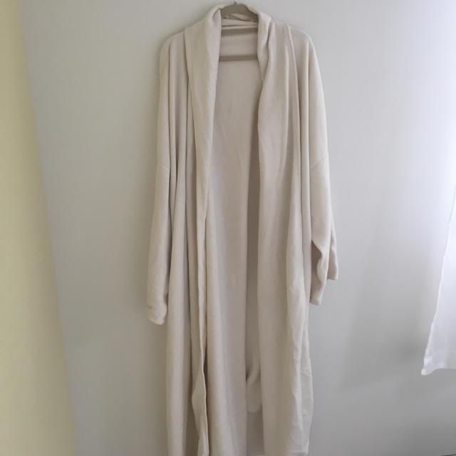最終出品 試着のみ 無印良品 綿天竺ポケッタブルダウン はんてん 婦人 杢グレー M-L ダウンコートダウンジャケット着る毛布