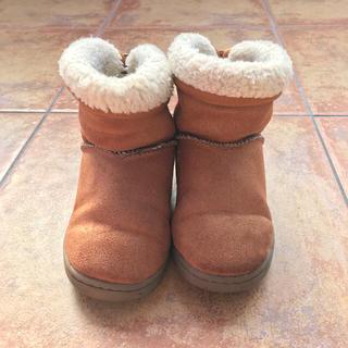 ムジルシリョウヒン(MUJI (無印良品))の無印良品 キッズ ムートンブーツ キャメル ♡(ブーツ)