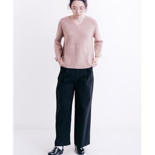 メルロー(merlot)の新品タグ付き merlot タックワイドパンツ ブラック フリーサイズ(カジュアルパンツ)