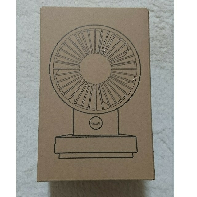MUJI (無印良品)(ムジルシリョウヒン)の無印良品 USBデスクファン(低騒音・首振りタイプ) ホワイト スマホ/家電/カメラの冷暖房/空調(扇風機)の商品写真