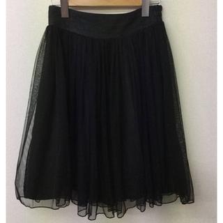 チュールフレアスカート(ひざ丈スカート)