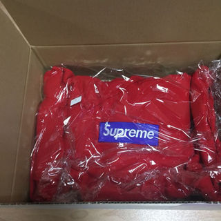 シュプリーム(Supreme)のSUPREME BOX LOGO 17AW M 希少 RED ボックスロゴ 赤(パーカー)