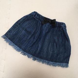 ブリーズ(BREEZE)の90 ブリーズ♡裾フリンジデニムスカート(スカート)