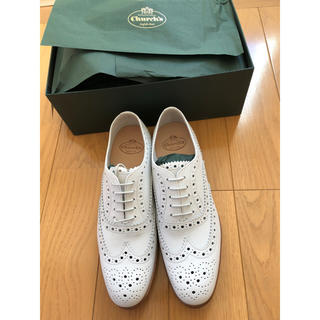 チャーチ(Church's)のチャーチ ホワイト バーウッド 38 24.5 新品未使用 ローファー(ローファー/革靴)