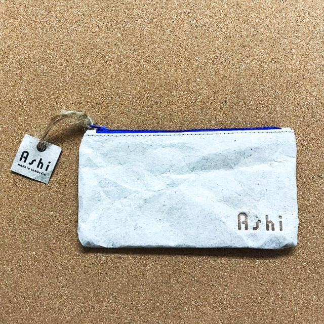 Ashi フラットポーチ(M) ハンドメイドのファッション小物(ポーチ)の商品写真