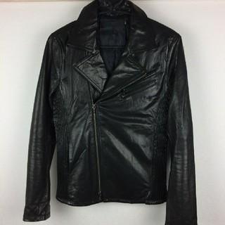 フーガ(FUGA)の新品同様品 FUGA フーガ ライダースジャケット ブラック サイズ44(ライダースジャケット)
