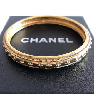 94d8c5cd133a シャネル(CHANEL)のMari24様 専用。CHANEL ヴイーテージ ゴールドカラー バングル (ブレスレット