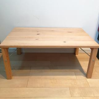 ムジルシリョウヒン(MUJI (無印良品))の無印良品 ローテーブル 折りたたみ式(ローテーブル)