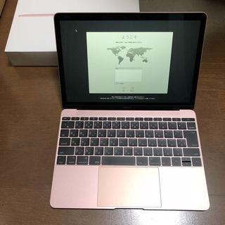 Macbook 12インチ 8GB/512GB ローズゴールド(ノートPC)
