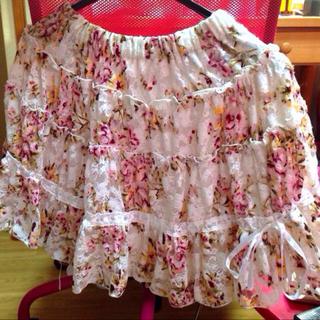 リズリサ(LIZ LISA)の☆リズリサ☆ 花柄レーススカート(ミニスカート)