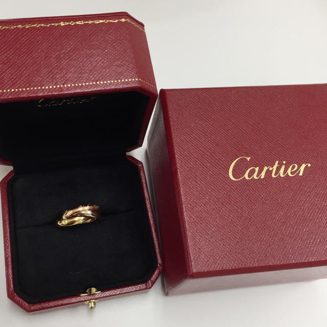 Cartier(カルティエ)の【バナナ様専用】カルティエ トリニティ リング☆美品 レディースのアクセサリー(リング(指輪))の商品写真