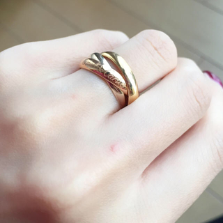 カルティエ(Cartier)の【バナナ様専用】カルティエ トリニティ リング☆美品(リング(指輪))