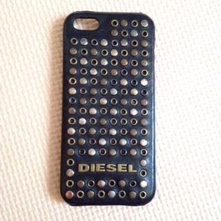 ディーゼル(DIESEL)のiPhoneケース レザースタッズ(その他)