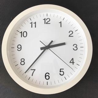 ムジルシリョウヒン(MUJI (無印良品))のほぼ新品  無印良品 ウォールクロック 2個セット 白 無音(掛時計/柱時計)