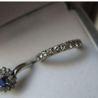 【値下】セミフルエタニティ・7号・ダイヤプラチナリング・1カラット(リング(指輪))