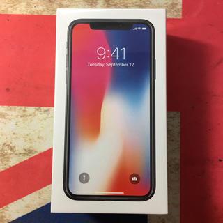 アイフォーン(iPhone)のiPhoneX 64GB SIMフリー 未開封(スマートフォン本体)