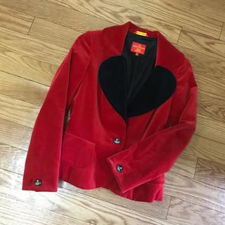 ヴィヴィアンウエストウッド(Vivienne Westwood)のレア☆ヴィヴィアン ベロア ラブジャケット♡(テーラードジャケット)