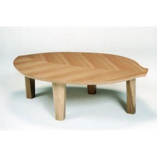 新品 葉っぱをモチーフにデザインされたテーブル 日本製(ローテーブル)