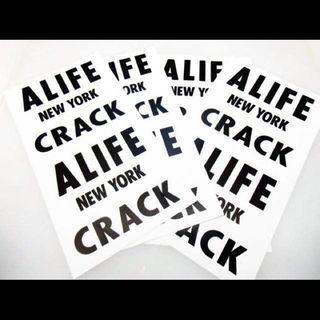 ■送料無料■【alife(エーライフ) CRACK /BIGステッカー】(その他)