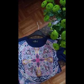 エトロ(ETRO)のエトロ  シルクコットンブラウス(シャツ/ブラウス(半袖/袖なし))