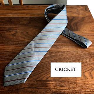 【CRICKET クリケット】ネクタイ シルク100%  シルバーグレー系(ネクタイ)