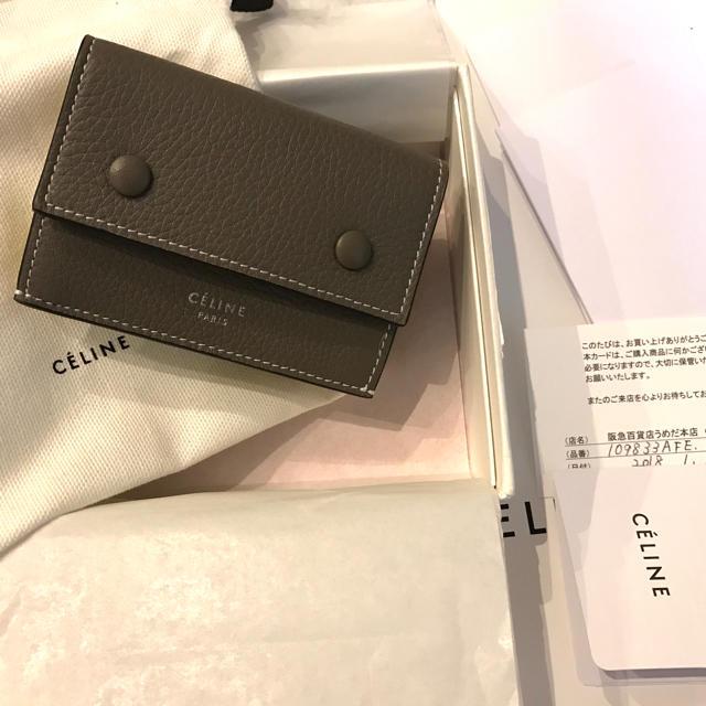 size 40 492a9 43480 セリーヌ ミニ財布 三つ折り財布 | フリマアプリ ラクマ