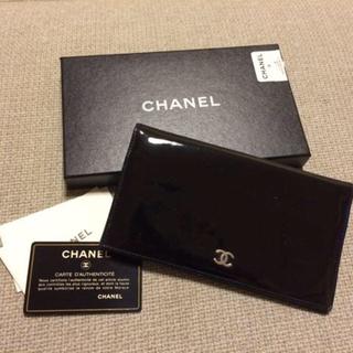 シャネル(CHANEL)のシャネルブラックエナメル長財布☆(財布)