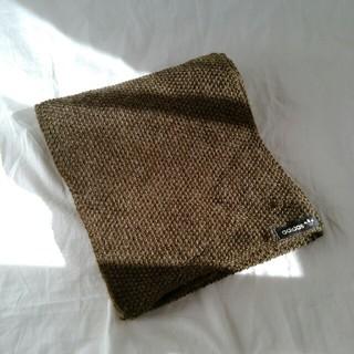 adidas - adidas マフラー タグ ロゴ シンプル かぎ編み カーキ ユニセックス