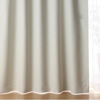ムジルシリョウヒン(MUJI (無印良品))の無印良品 ポリエステル二重織プリーツカーテン アイボリー(カーテン)