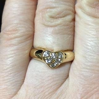 ティファニー(Tiffany & Co.)のティファニー❤️パブェハートダイヤモンドリングk18    6号(リング(指輪))