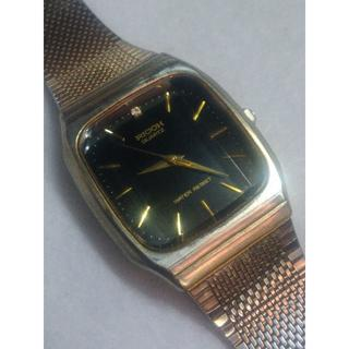 リコー(RICOH)の腕時計 リコー クォーツ メンズ 中古 黒金(腕時計(アナログ))