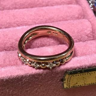 ヨンドシー(4℃)の専用出品です  4℃ ヨンドシー   k18ダイヤモンドピンキーリング  3号(リング(指輪))