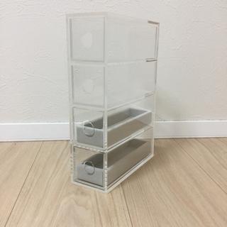 ムジルシリョウヒン(MUJI (無印良品))のアクリルメガネ・小物ケース ベロア内箱仕切・グレー×2 セット(小物入れ)