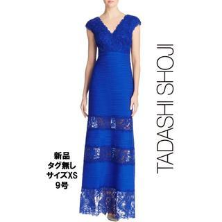 タダシショウジ(TADASHI SHOJI)の【新品・タグ無】Tadashi shoji ロングドレス レース刺繍XS(ロングドレス)