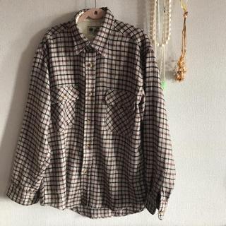 ブラウンチャックシャツ(シャツ/ブラウス(長袖/七分))