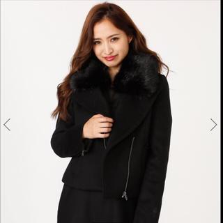 リエンダ(rienda)のrienda WクロスFaux Fur Wool MIXライダースJK新品(ライダースジャケット)