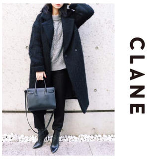 エンフォルド(ENFOLD)のクラネ Clane ウール シャギー ロングコート オーバーサイズ 日本製 黒(チェスターコート)
