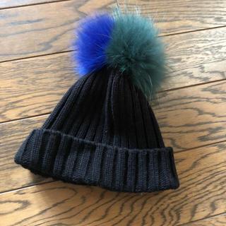 ルシェルブルー(LE CIEL BLEU)のルシェルブルー ニット帽 美品(ニット帽/ビーニー)