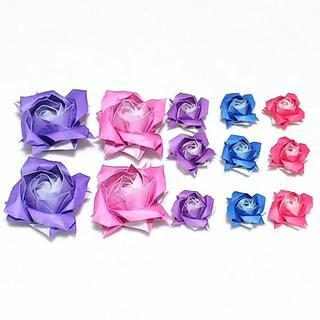 【ご注文品】バラの花 グラデーション折り紙(その他)