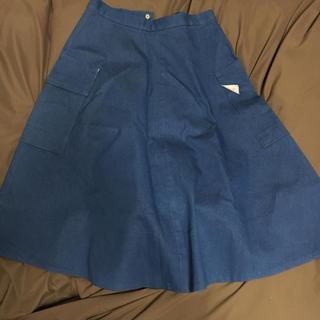デンドロビウム(DENDROBIUM)の青 スカート dendrobium(ひざ丈スカート)
