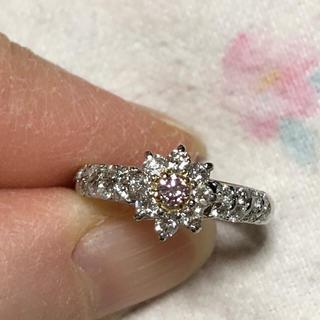 じゅりん様  プラチナ💍k18天然ピンクダイヤモンドリング(リング(指輪))