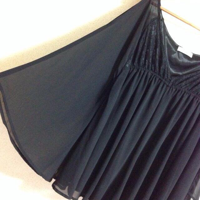 Delyle NOIR(デイライルノアール)のデイライル*肩あきバタフライチュニック黒 レディースのパンツ(オールインワン)の商品写真