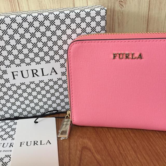 0c83968d8ef9 Furla(フルラ)の新品 FURLA バビロン コンパクト ラウンド 折り財布 サーモンピンク レディースの