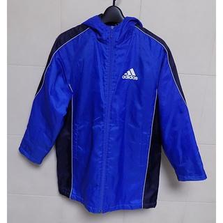 アディダス(adidas)のアディダス 青と紺 裏がフリースとキルティングベンチコート140(コート)