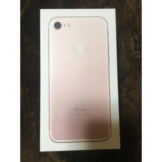アイフォーン(iPhone)のiphone7 128 ローズゴールド SiMフリー 新品(その他)