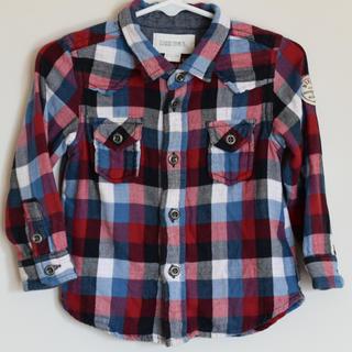 ディーゼル(DIESEL)のDIESEL ディーゼル チェック シャツ 12M サイズ80(シャツ/カットソー)