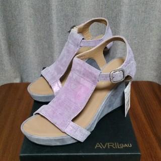 アヴリルガウ(AVRIL GAU)の★新品★スコットクラブ サンダル 24 紫 グレー(サンダル)