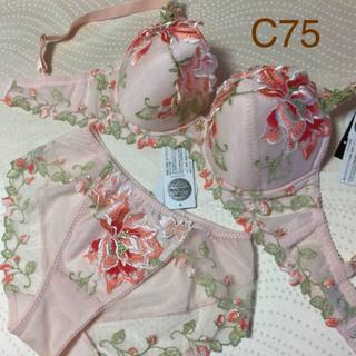 ワコール(Wacoal)のサルート オペラ C75 ショーツ M ワコール 38G 店舗限定商品 PI(ブラ&ショーツセット)