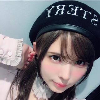 イートミー(EATME)のEATME ベレー帽 ブラック(ハンチング/ベレー帽)